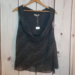 Prontomoda Giusy Silk Top Size M